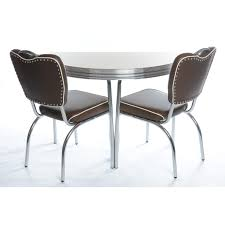 Retro Kitchen Chairs For Classic Retro Route 66 Half Round Table And Chairs 50s Amercian