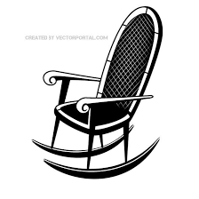 rocking chair silhouette. Delighful Silhouette ROCKING CHAIR VECTOR IMAGE Throughout Rocking Chair Silhouette