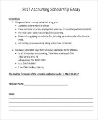 Example Of Scholarship Essay Sample Scholarship Essay 7 Examples In Pdf