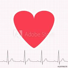Ecg Graph On Grid Paper With Heart Icon Buy This Stock