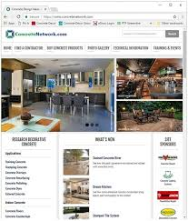 concretenetwork com s website shows various ideas and technical information for contractors and homeowners