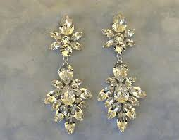 pageant earrings chandelier crystal statement earrings wedding earrings bridal earrings chandelier earrings wedding jewelry pageant rhinestone