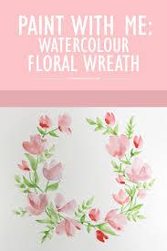 watercolor fl wreath tutorial