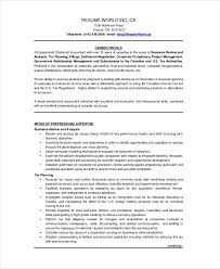 Professional Accountant Resume Chartered Accountant Resume Template 5 Free Word Pdf