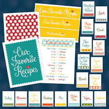 organize your recipes with this recipe binder kit printable diy project from projectgoble