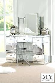 mirrored furniture set. glass vanity table with mirror uranium dressing set large mirrored furniture console desk from my