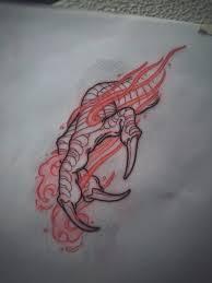 Creative Tattoos Australian Tattoo Ideas Dragon Claw Sketch By
