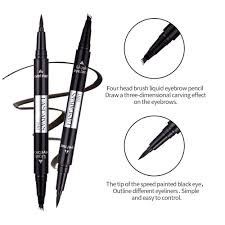 Details About 2 In 1 Eyebrow Tattoo Pen Waterproof Eyeliner Pen 4 Heads Microblading Makeup Us