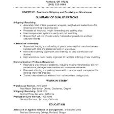 Shipping And Receiving Resume Shipping Receiving Resume Fishingstudio 30