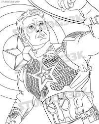 L for try to stop him. Captain America Avengers Printable Digital Download Coloring Etsy