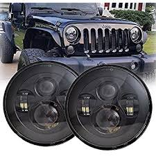 amazon com dot approved 7 black led headlights 4 cree led fog lx light 7 round black cree led headlight high low beam for jeep wrangler jk tj lj cj hummber h1 h2 pair