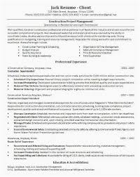 Sample Resume Construction Project Manager Project Management Resume Keywords The Best Construction