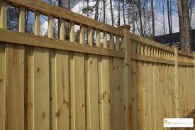 Wood Privacy Fence with Custom Lattice