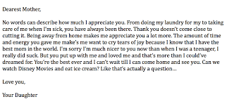 letter to mom english