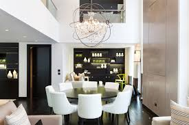 round dining room table set decor modern on enchanting stylish chandelier dark wood dining table floor