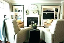 small narrow living room layout bay window with e and furniture for fireplace
