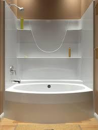 splendiferous one piece bath shower unit your home idea