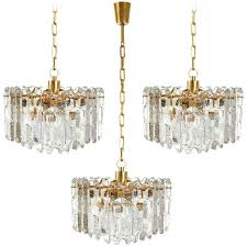 chandelier and pendant lighting. perfect chandelier three kalmar chandeliers pendant lights u0027palazzou0027 gilt brass glass  throughout chandelier and lighting l