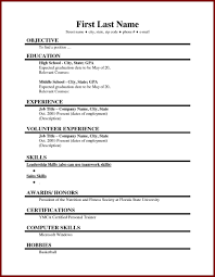 10 First Time Resume Examples With No Experience Resume