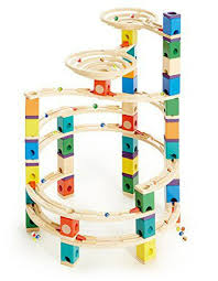 hape quadrilla wooden marble run set the cyclone at the nile