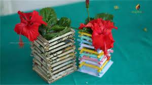 Flower Vase With Paper Paper Flower Vase Diy Paper Vase Flower Vase Making By Srujana
