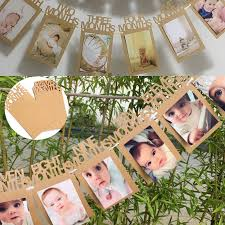 details about 1 12 months baby 1st birthday photo frame shower bunting banner party decoration