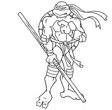 Small Picture Donatello in online Teenage Mutant Ninja Turtles coloring page