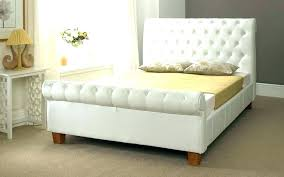 single leather sleigh bed frame king faux queen upholstered home improvement charming full size