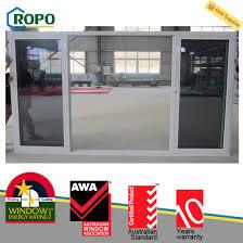 upvc pvc profile bathroom sliding glass door