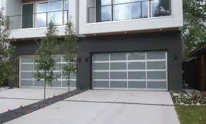 recently installed aluminum full view glass garage doors with uv frosting in dallas for 3000 00