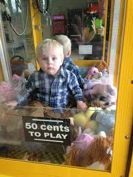 Kid In Vending Machine Classy Cheeky Toddler Trapped INSIDE Arcade Machine After Crawling In For