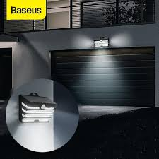 <b>Baseus LED Solar</b> Wall <b>Lamp</b> Waterproof <b>Outdoor Solar</b> Garden ...