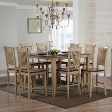 sunset trading brookdale 9 piece square counter height table set with brookdale fancy stools hayneedle