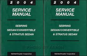 mopar stratus sebring sedan covertible wiring diagram manual 2004 stratus and sebring sedan and convertible repair shop manual set original 139 00