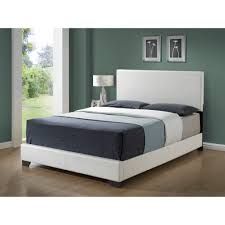 Overstock Bedroom Furniture Sets White Leather Look Queen Size Bed Free Shipping Today