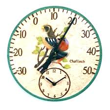 patio clock thermometer clocks outdoor extra large outside and miami double sided outdoor