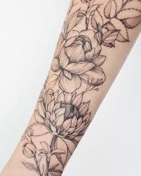 тату рукав цветы тату