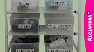 Bathroom Cabinet Organizer Bathroom Cabinet Organization Tips Youtube
