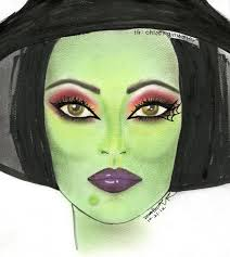 holidays wicked witch makeup