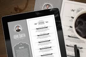 Retro Resume Template Resume Templates Creative Market