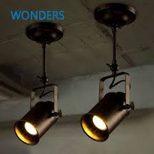 lighting spotlights ceiling. Personality Creative Loft Bar Wall Probe Industrial Pendant Light Black Track Lights Spotlights Clothes Store Ceiling Lighting G