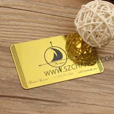 Stainless Steel Business Cards Manufacture Custom Mirror Shinny Gold Plated Stainless Steel