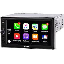 sony xav ax100 double din digital receiver with 6 4 display apple carplay and