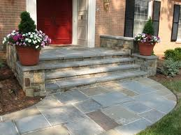 patio steps pea size x: stone walkway and front steps landscaping