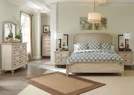 Sparks Furniture Demarlos Queen Upholstered Panel Bed, Dresser & Mirror