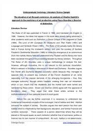 Example Of A Literature Review Essay Writing A Philosophy Paper The University Of West Georgia How To
