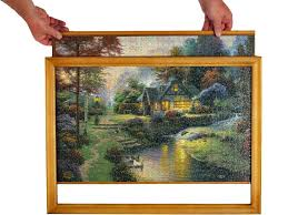 how to frame a large puzzle jigsaw puzzle frame easy to change puzzles