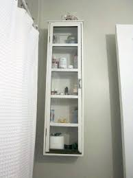 White Bathroom Wall Cabinet With Glass Doors White Bathroom Wall