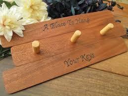 engraved wood key holder wall key