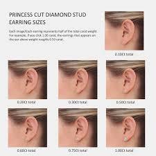 Diamond Stud Size Chart Diamond Stud Earring Size Chart Www Bedowntowndaytona Com